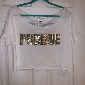 PINK Purdue Cropped Top - NWT